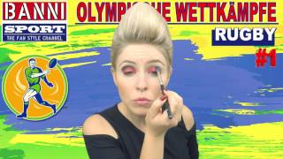 Rugby Pегби Ragbi #1 - Olympic Wettkampf - Original Banni Sport Fan Style & Make-up