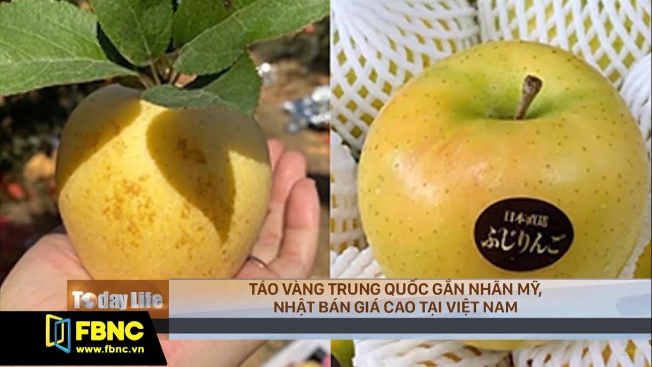 Táo vàng Trung Quốc gắn nhãn Mỹ, Nhật bán giá cao tại Việt Nam | FBNC TV Today Life 11/11/19