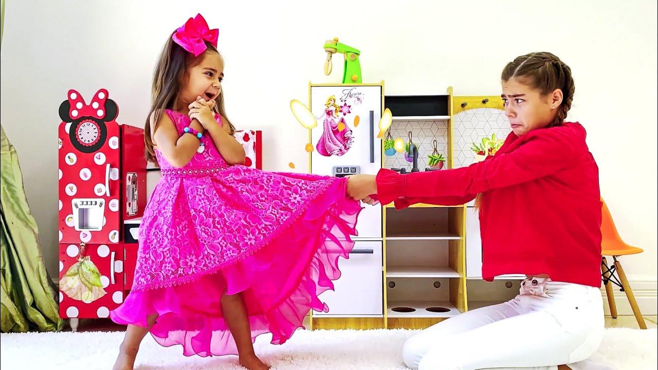 ناستيا وميا يريدان نفس الفساتين  قصص أخلاقية عالية للأطفال