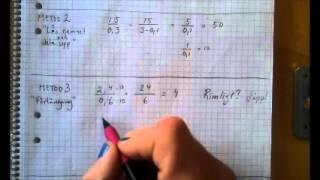Division decimaltal