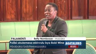 Poliisi okulemesa ebivvulu bya Bobi Wine.