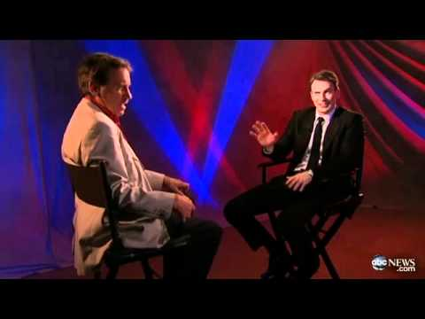 Chris Evans Interview with Peter Travers (chris sings)