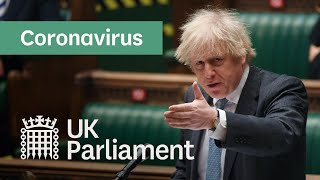 Update on coronavirus lockdown restrictions by Prime Minister Boris Johnson - 22nd Feb 2021