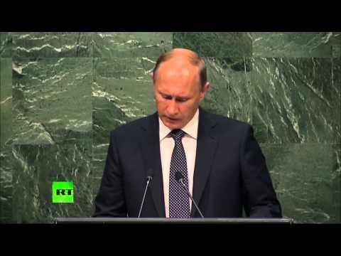 Владимир Путин выступил на 70-й сессии Генассамблеи ООН - Видео онлайн