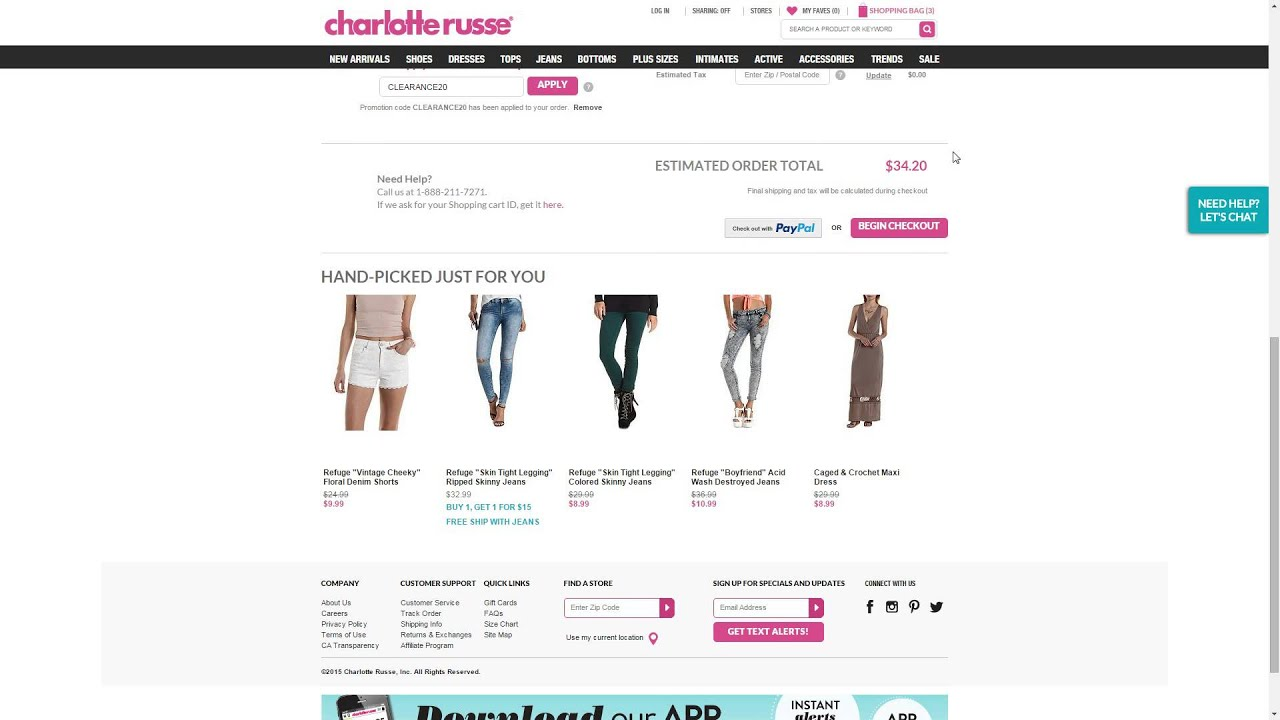 photo regarding Charlotte Russe Printable Coupons named On line promo code for charlotte russe - Easy dessert Plans