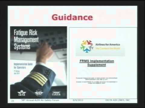 58th Air Safety Forum - The Differences Between FRMS and FRMP