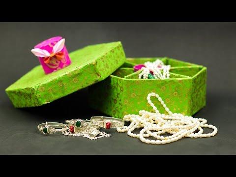 Diy Jewellery Box with Cardboard
