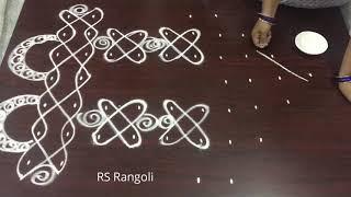 simple dots melikala radham kolam for Sankranthi Festival muggulu || simple &easy ratham muggulu