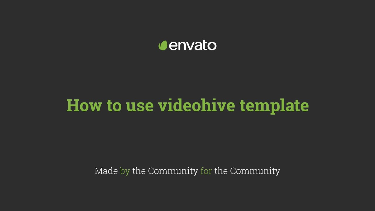 how to use videohive template - a quick walkthrough - youtube, Powerpoint templates