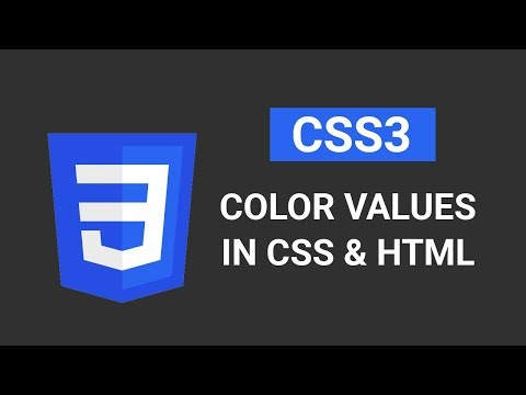 CSS3 Color Values | Introduction to CSS | Tutorial #6 Part 2/2 thumbnail