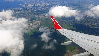 Взлет из Пулково Boeing 737-800 Nordwind