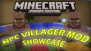 villagers mod in minecraft pocket edition mod showcase 0 8 1