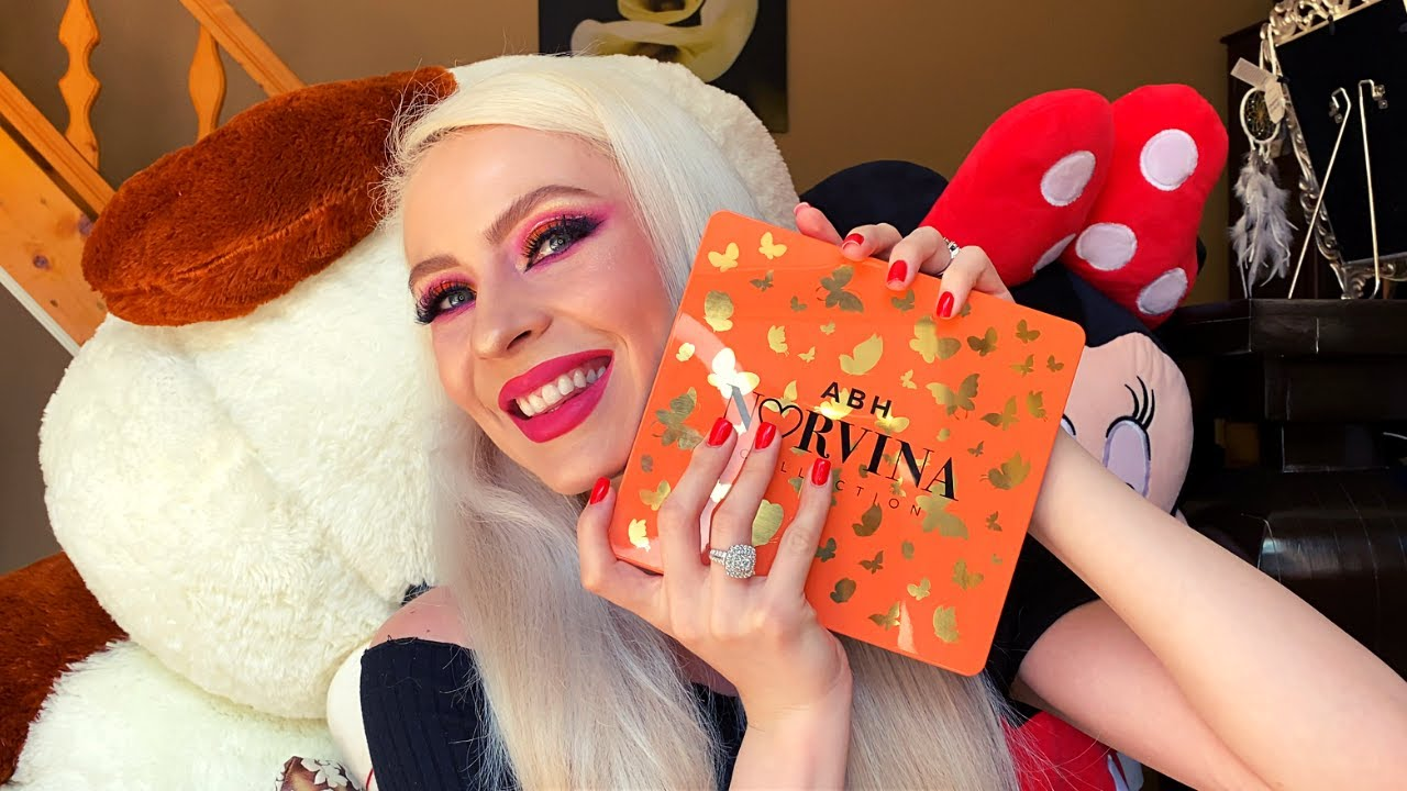 Am testat paleta ABH Norvina Vol.3 Makeup tutorial + Swatch