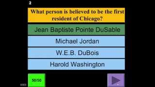 Game Show in POWERPOINT- Multiple Choice Quiz Demo (Know Your Heritage)
