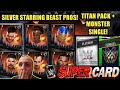 Titan Platinum Pack Opening + Monster Single Pack! Silver Starring Beast Pros! Noology WWE Supercard