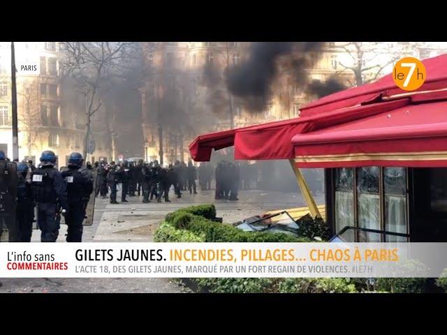 Gilets jaunes. Incendies, pillages... Chaos à Paris