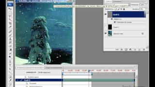 Видеоурок фотошоп - Падающий снег