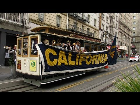 Cal Band Cable Car Rally Powell Street San Francisco California 2017