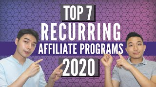 Top 7 Affiliate Programs To Make Monthly Passive Recurring Income (2020)