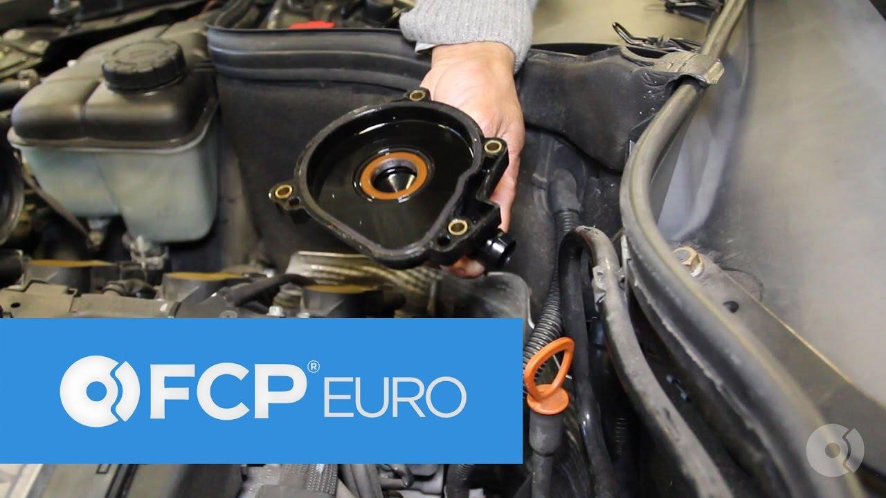 mercedes crankcase breather valve replacement easy diy clk c class  [ 1280 x 720 Pixel ]