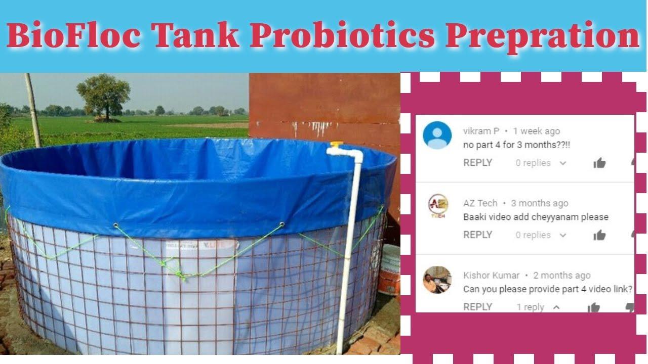 Repeat BioFloc Tank probiotics prepration part 4 by Ammos