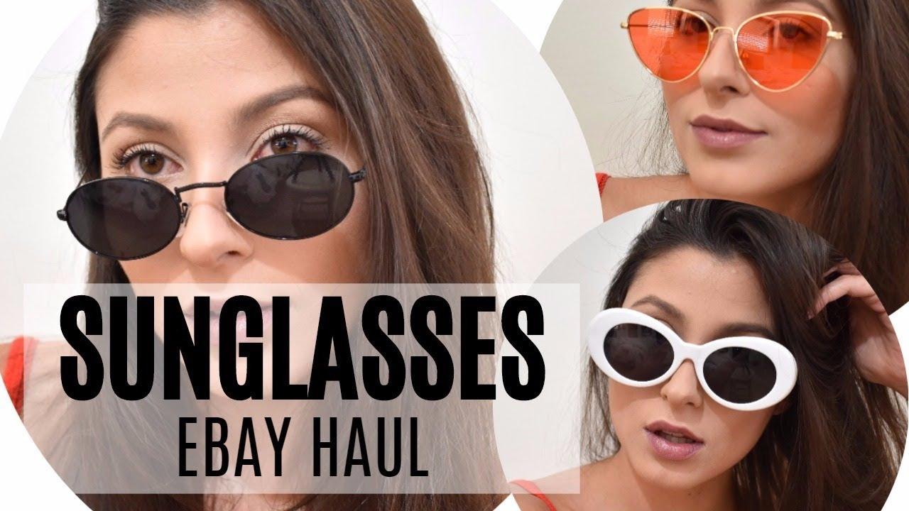 fa16f2aa2a SUNGLASSES eBay HAUL! A W SUNGLASSES TRENDS - YouTube