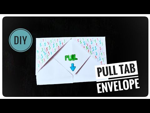 DIY Pull Tab Origami With Birthday Wishes | Letter Origami