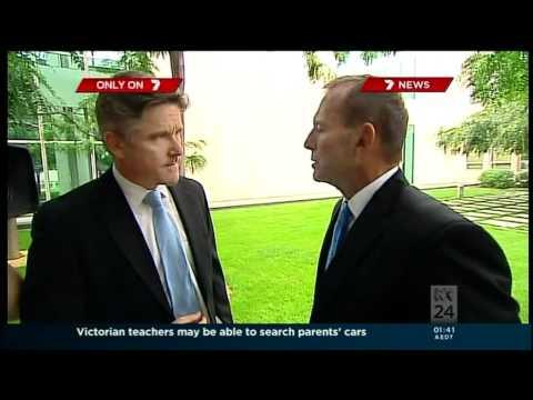 Tony Abbott's bizarre response to journalist Mark Riley.mpg