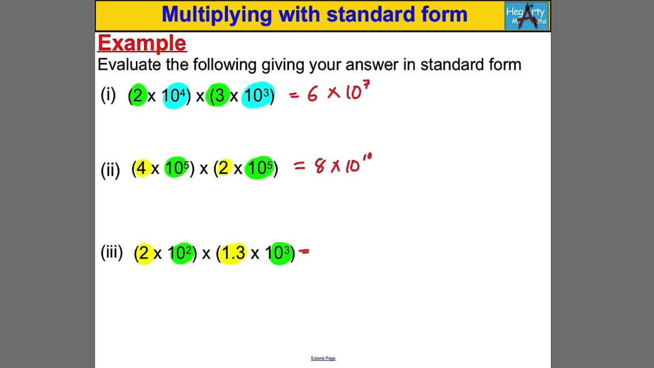 Multiplying with standard form youtube multiplying with standard form falaconquin