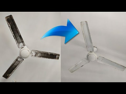 Clean your ceiling fan using sellotape.How to clean ceiling fan easily.