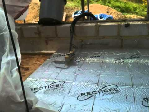 Cutting Insulation To Fit Between Joists Youtube