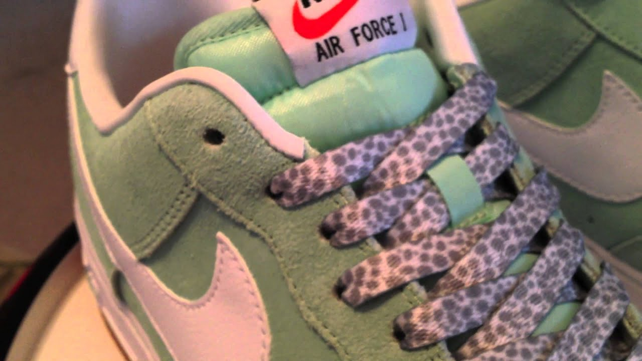 hot sale online adee7 e44a8  Nike Air Force 1 Low - Arctic Green   Gum   White colorway - with lace  swap - 7-23-13 Nike