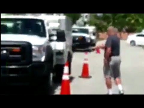 Florida Man Shoots AT&T Truck for Parking in Front of his House (Actual Video) TheFireArmGuy