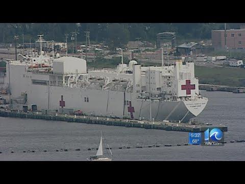 Norfolk Based Hospital Ship Heading To Puerto Rico
