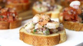 Итальянская закуска CROSTINI 2 вида | Ну очень вкусно!!!
