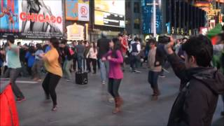 ICC Twenty20 world cup Flash Mob @ Times Square Full HD - City College of New York