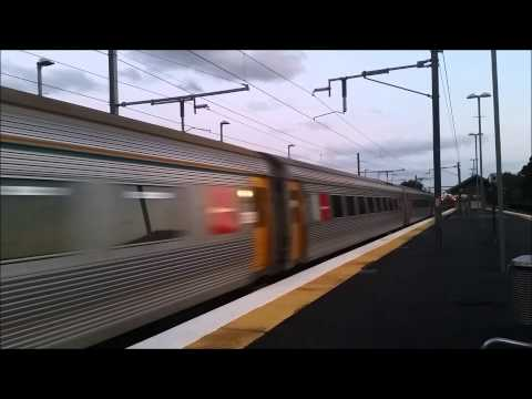 Queensland Rail ICE express through Sunshine station.