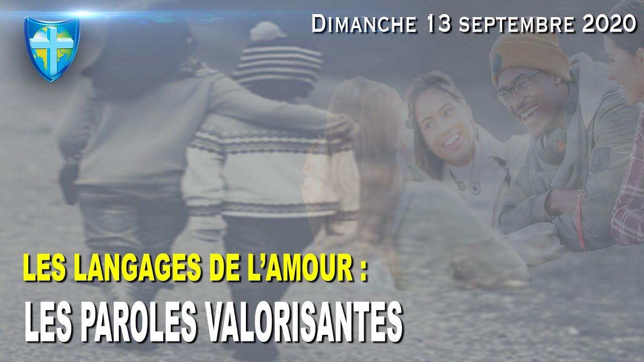LES LANGAGES DE L'AMOUR : PAROLES VALORISANTES - CULTE DU DIMANCHE 13/09/20