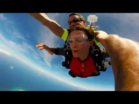 Jetblading and skydiving in Aruba for Travel Channel