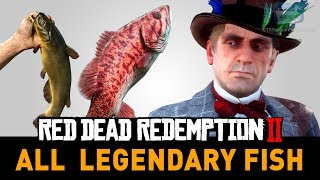 Red Dead Redemption 2 All Legendary Fish (A Fisher of Fish) Video