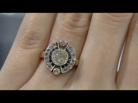 00593-MTC001- Unusual Antique Diamond Ring