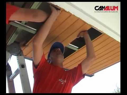 Instalaci n techo de aluminio tech alum para exterior de - Laminas de techo ...