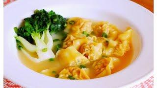 How to Make Pork u0026 Shrimp Wonton Recipe 餛飩 CiCi Li -Asian Home Cooking Recipes