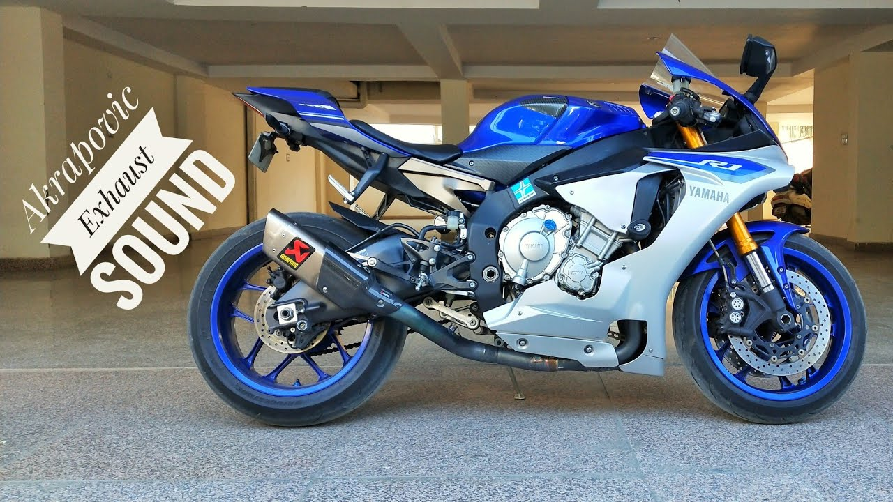yamaha r1 with akrapovic exhaust short spin and insane revving