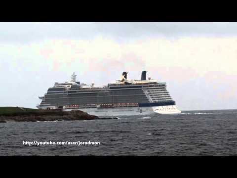 Cruise Ship CELEBRITY ECLIPSE departs A Coruña