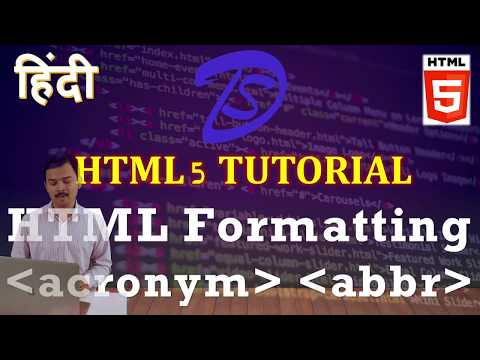 हिंदी | HTML Tutorial | Abbreviation & Acronym In HTML In Hindi