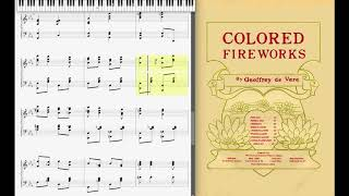 Video Colored Fireworks by Geoffrey de Vere (1904, Ragtime piano) download MP3, 3GP, MP4, WEBM, AVI, FLV September 2018