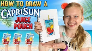 Draw a Super Cute Tropical Pouch Drink || Art with Alyssa