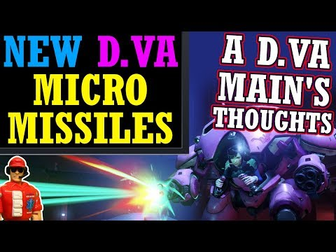 Overwatch - A D.Va Main's Thoughts on New Micro Missiles & Nerf
