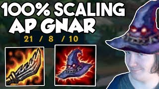700 MAGIC DAMAGE EVERY 2ND AUTO - AP FULL ATTACK SPEED GNAR IS DISGUSTING